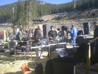 Stage One setup at Echofest '09, at Echo Mountain. (Photo: DenverThread)