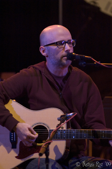 Moby entertained both radio and live audiences with his easy charm, wit and erudite conversation last Sunday night in Boulder. (Photo: Nathan Rist/Reverb)