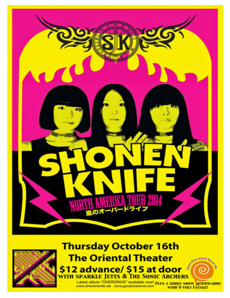 Shonen Knife will attack Denver - and win - Thursday night, October 16, starting at the Oriental Theater.
