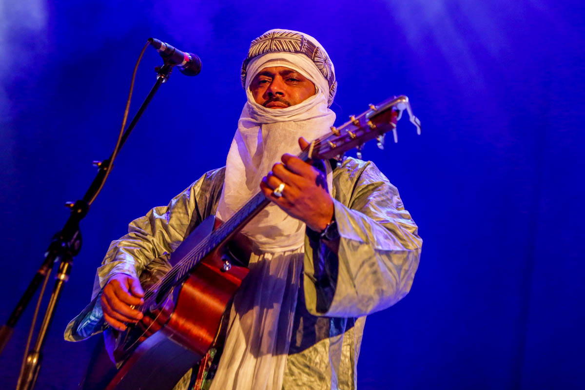 Tinariwen play The Oriental Theater on 4/8/17. Photo by Michael McGrath.