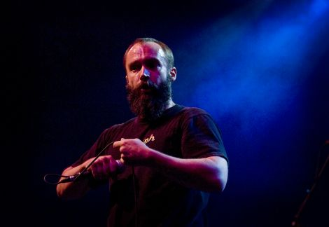 Clutch's Neil Fallon, schooling willing followers at The Fillmore last Wednesday night. (Photo: Mateo Leyba, Denver Post)