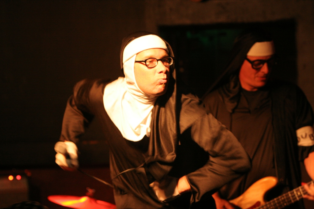 Nuns of Brixton, a Clash tribute band in full convent regalia, played Bender's Tavern in front of a rapt crowd last Friday night (Photo:Michael McGrath, denverpost.com/reverb)