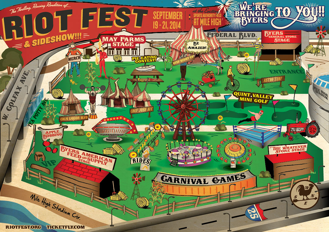 Riot Fest Chicago Map UPDATE: The Show Will Go On – Riot Fest Relocated! | DenverThread